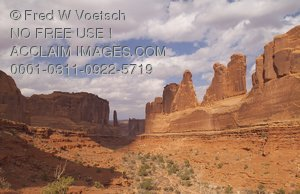 Stock Photo of Park Avenue in Arches National Park