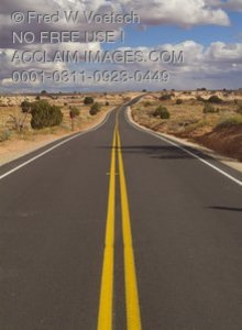 Stock Photo of a Desert Highway
