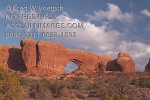 Stock Photo of North Window Arch, Arches National Park