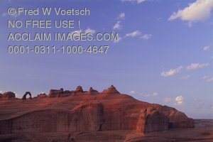 Stock Photo of the Delicate Arch in Arches National Park