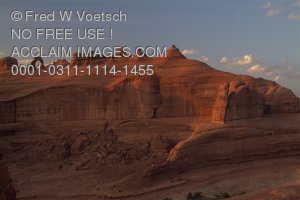 Stock Photo of the Delicate Arch Area in Arches National Park, Utah