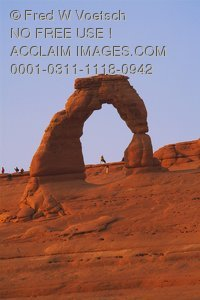Stock Photo of the Delicate Arch in Arches National Park, Utah