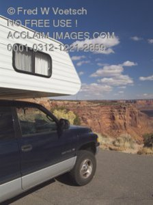 Stock Photo of a Recreational Vehicle at Canyonlands National Park