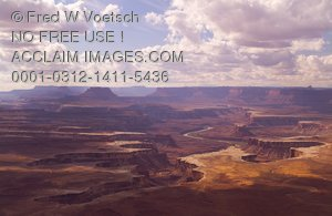 Stock Photo of Grand View Point Overlook, Canyonlands National Park