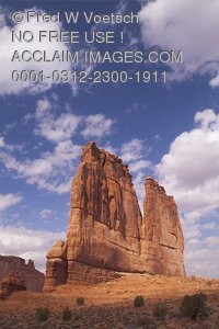 Stock Photo of The Organ Formation in Arches National Park, Utah