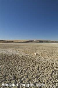 Stock Photo of Oregons Lake Alberts Dry Bed