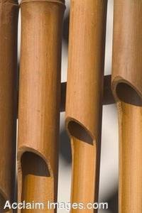 Stock Photo of Bamboo Wind Chimes