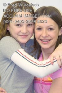 Stock Photo of Two Young Girls