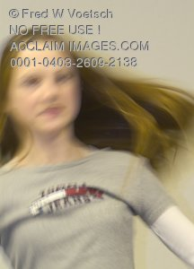 Stock Photo of a Girl in Motion