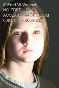 Clip Art Stock Photo of a Young Girl