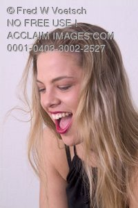 Stock Photo of a Girl Laughing