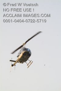 Stock Photo of a Helicopter