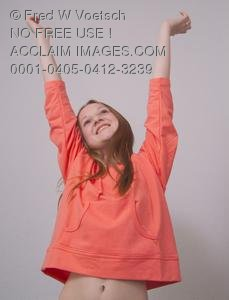 Stock Photo of a Happy Girl