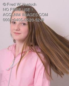 Stock Photo of a Girl With Long Hair