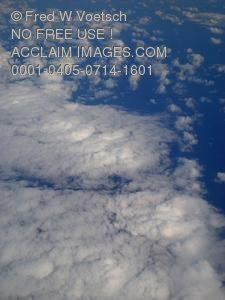 Stock Photo Clipart of Clouds Above the Pacific Ocean