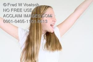 Stock Photo of an Excited Girl