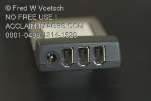 Clip Art Stock Photo of a Firewire PC Card