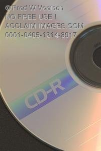 Stock Photo of a CD-R CD