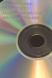 Stock Photo of Rainbow Colors on a CD