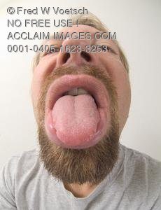 Stock Photo of a Man Sticking Out His Tongue