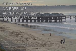 Stock Photo of the Crystal Pier, Pacific Beach, San Diego
