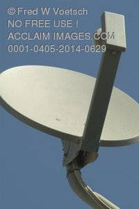 Stock Photo of a Satellite Dish