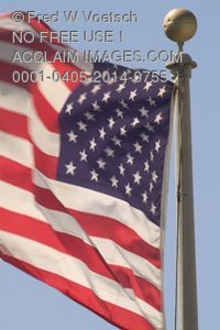 Stock Photo of an American Flag
