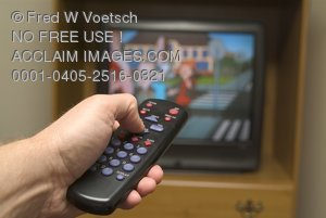 Stock Photo of a Television Remote Control