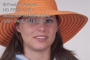 Stock Photo of a Woman Wearing a Hat