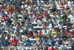 Stock Picture of a Crowd Sitting in Bleachers