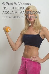 Stock Photo of a Healthy Woman Exercising