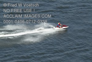 Stock Photo of a Person on a Jetski