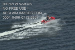 Stock Photo of a Person on a Jetski on Lake Kaweah
