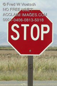Stock Photo of a Stop Sign