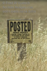 Stock Photo of a Private Property Sign