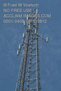 Stock Photo of a Communication Tower