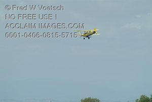 Stock Photo of a Crop-duster Biplane