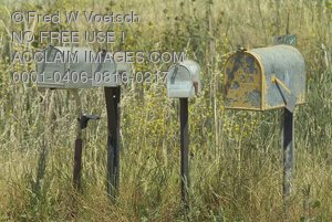 Stock Photo of Mailboxes