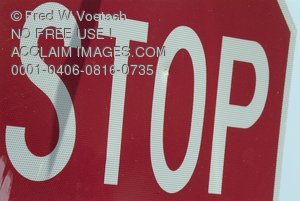Stock Photo of a Stop Sign, Traffic Sign