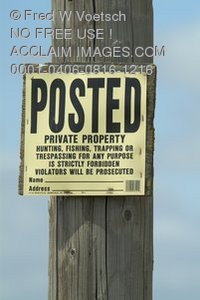 Stock Photo of a Posted - Private Property Sign