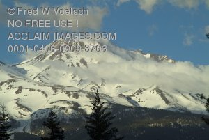 Stock Photo of Mt Shasta, Mountains