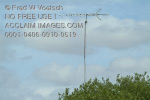 Stock Photo of a Large Antenna