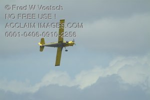 Stock Photo of a Cropduster Biplane