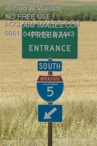 Stock Photo of Directional Highway Signs