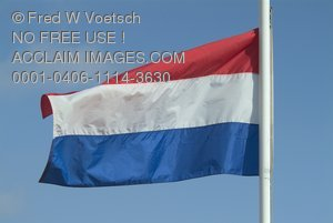 Stock Photo of the Kingdom of the Netherlands Flag