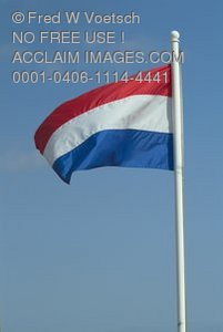Stock Photo of the Dutch Tricolour, Kingdom of the Netherlands Flag