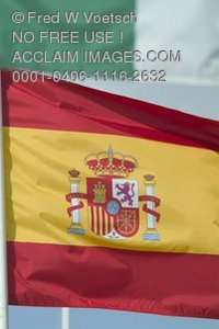 Stock Photo of the Flag of Spain