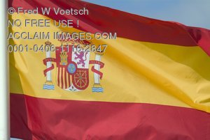 Stock Photo of the Spanish Flag