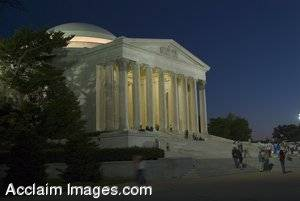 Picture of the Jefferson Memorial in Washington DC