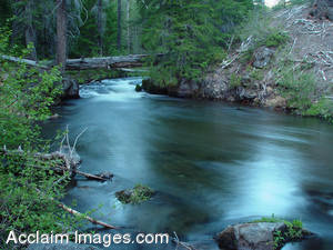 Stock Photo of a Beautiful Flowing River